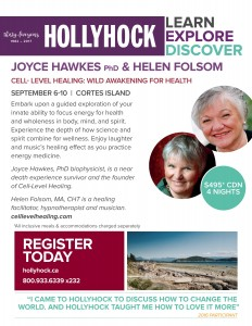 Joyce Hawkes Helen Folsom-Hollyhock Poster